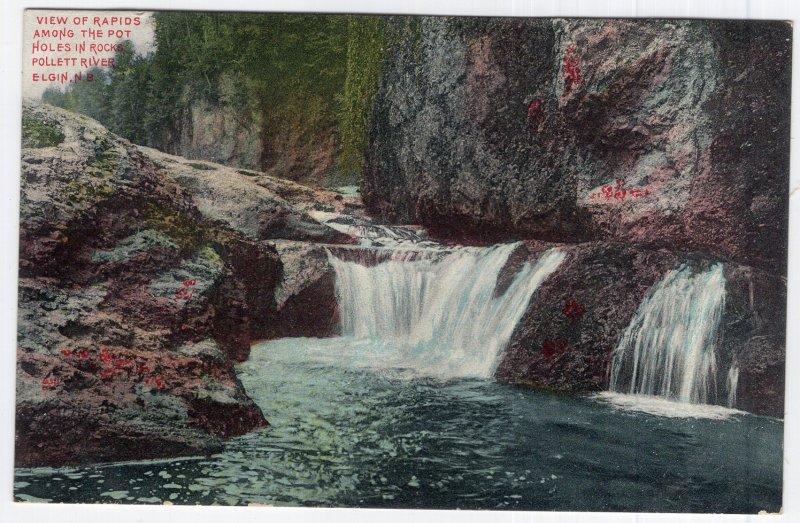 Elgin, N.B., View of Rapids Among The Pot Holes In Rocks, Pollett River