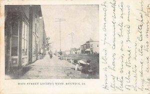 LPS41 RENWICK Iowa Main Street looking West Town View Postcard