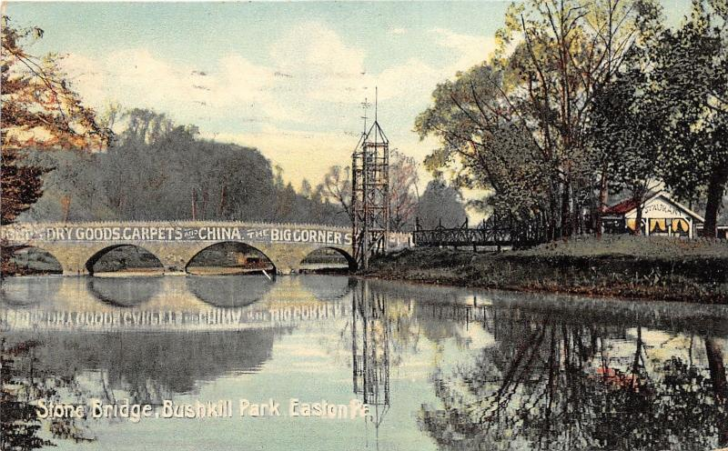 Easton Pennsylvania~Bushkill Park Bridge~Big Corners Store~Northampton County~Pc