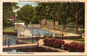 West Virginia Berkeley Springs State Park Showing Swimming Pool and New Bath ...