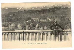 Pau , France, 00-10s   French Military Officer, La Chaine des Pyrenees