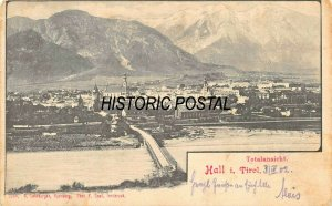 HALL in TIROL AUSTRIA~TOTALANSICHT~1902 B LEHRBURGER~GRAIL PHOTO POSTCARD