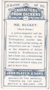 Cigarette Cards Players Characters From Dickens No 49 Mr. Bucket