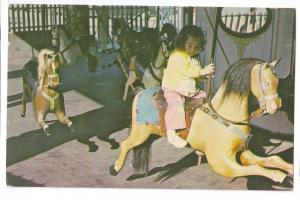 Watch Hill RI Child Girl Carousel Merry Go Round Amusements