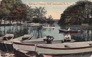 AMSTERDAM, New York, 1900-1910´s; Boating At Crescent Park