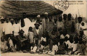 CPA AK Fortier 1166 Chef indigene et sa suite SENEGAL (812212)