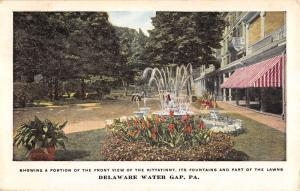 Delaware Water Gap Pennsylvania Kittatinny Fountain Antique Postcard K17937