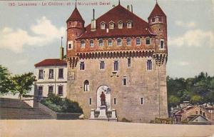 Le Chateau Et Le Monument Davel, Lausanne (Vaud), Switzerland, 1900-1910s