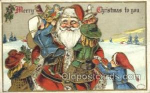 Christmas, Santa Claus Postcard Post card