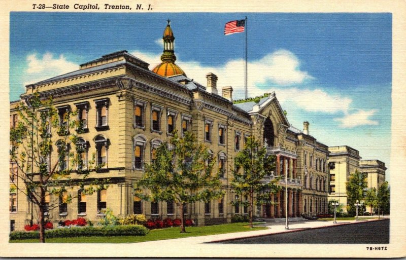 New Jersey Trenton State Capitol Building 1946 Curteich