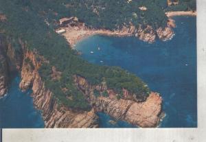 Postal 012601: Vista aerea de La playa de Aiguablava en Bagur, Costa Brava