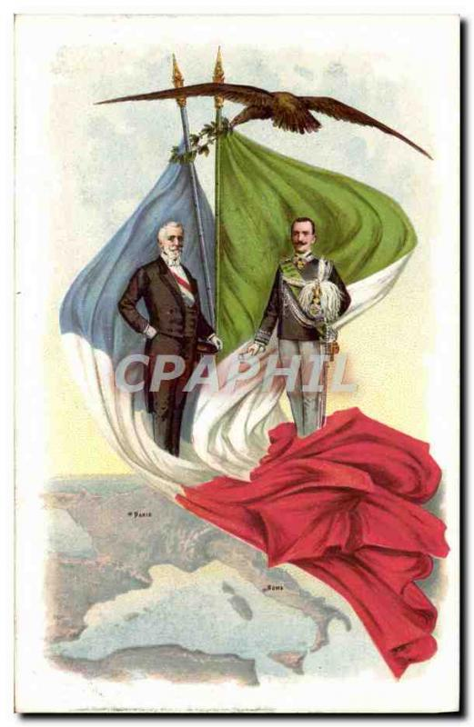 Old Postcard France Italy Eagle