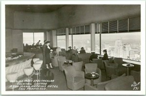 1940s San Francisco RPPC Postcard Top of the Mark Cocktail Lounge Piggott Photo