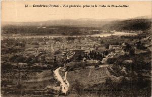 CPA CONDRIEU Vue générale prise de la route de Rive de Gier (443623)