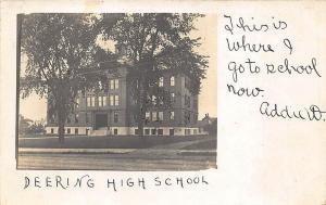 Portland ME Deering High School  in 1908 RPPC Postcard