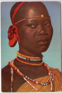 African Woman, probably Kenya, card