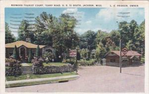 Mississippi Jackson Redwood Tourist Court Terry Road U S 51 South 1938