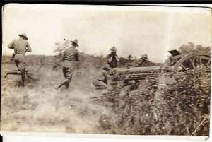 Military - Real Photo Card - Artillery Unit Firing Gun