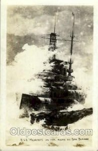 USS Memphis Military Ship, Ships, Postcard Postcards writing on back