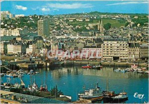 Modern Postcard Cherbourg Manche L'Avant port and dock Caligny