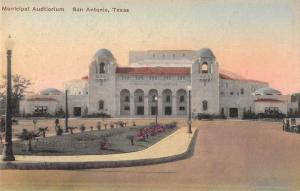 San Antonio Texas Municipal Auditorium Vintage Postcard JA4741648