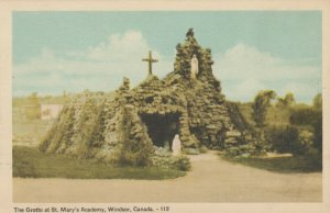WINDSOR , Ontario, Canada, 1930s ; The Grotto at St Mary's Academy