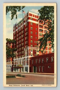South Bend IN-Indiana, Hotel Hoffmann, Linen c1942 Postcard