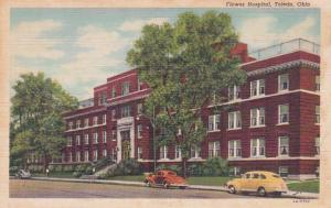 Ohio Toledo Flower Hospital Curteich