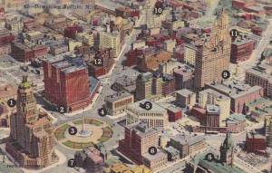 Areial View of Downtown Buffalo NY, New York - Linen