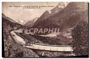 Old Postcard Grave Road at Lautaret Glacier d'Arsine and Romanche
