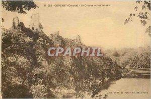 Old Postcard Crozant Creuse Creuse and ruins
