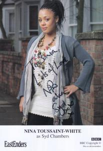 Nina Toussaint White as Syd Chambers BBC Eastenders Hand Signed Cast Card Photo