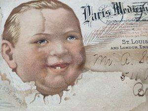 1904 2 SIDED MULTI COLOR ADVERTISING PARIS MEDICINE CO ST LOUIS MO Envelope