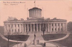 Ohio Columbus State House and McKinley Memorial 1909