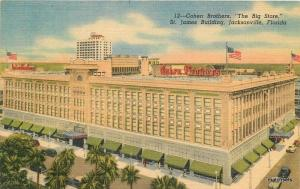 1940s Jacksonville Florida Cohen Brothers Department Store Teich postcard 1841