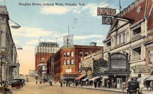 Omaha NE~Douglas Street~Empress 10c Theatre~Boston & Brandeis Department Stores