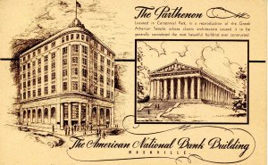 TN - Nashville. Parthenon, American Nat'l Bank Building
