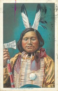 American Native History Postcard Buffalo Bill Wild West red native indian chief