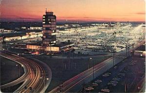 Sunset at Los Angeles International Airport California 1966