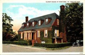 Virginia Yorktown Oldest House Curteich