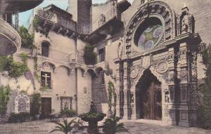St Francis Atrio Mission Inn Riverside California Handcolored Albertype