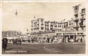 Netherlands Scheveningen Boulevard Palace Cafe Real Photo