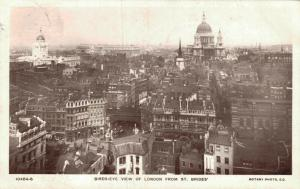UK Birds-eye view of London From St Brides 02.09