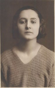 Postcard Romania social history portrait of a woman