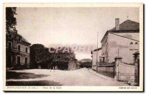 Pontanevaux Postcard Old Train Station Square