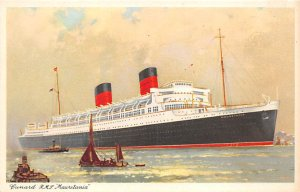 RMS Mauretania Cunard Line Ship Unused