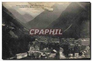 Old Postcard Hautes Pyrenees Cauterets General view
