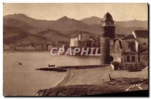 Old Postcard The Port Collioure