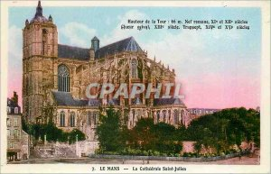 Old Postcard Le Mans cathedral St. Julian