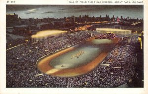 Soldier Field & Field Museum GRANT PARK Chicago, IL Football Stadium Postcard